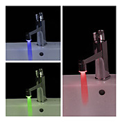 Elegante Grifo LED de Baño (Plástico, Acabado en Cromo)