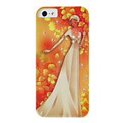 아이폰 5/5S를위한 IMD 기술 결혼식 숙녀 패턴 플라스틱 하드 케이스