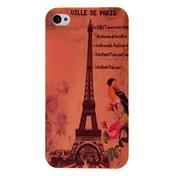 에펠 탑 (Eiffel Tower)와 아이폰 4 4S를위한 꽃 본 플라스틱 하드 케이스