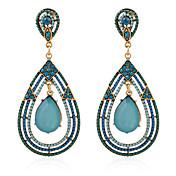 Pendiente Cristal / La imitación de diamante Pendientes colgantes Joyas Mujer Boda / Fiesta / Diario / CasualCristal / Legierung / Perla