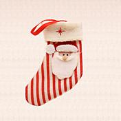 1 개 크리스마스 트리 장식 스트라이프 산타 클로스 양말 펜던트 홈 축제 파티 용품