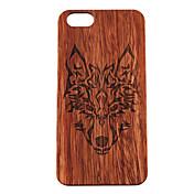 Para Funda iPhone 5 Carcasa Funda Diseños En Relieve Cubierta Trasera Funda Animal Dura Madera paraiPhone 7 Plus iPhone 7 iPhone 6s Plus