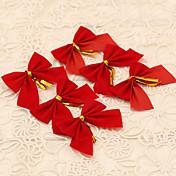 12PCS 빨간 bowknot 스타일의 메리 크리스마스 트리 장식 크리스마스는 장식 집 야외 용품 화 환