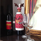 ciervos estilo alces navidad botella de champán vino tinto cubre la bolsa para el nuevo año ornamento de navidad decoraciones