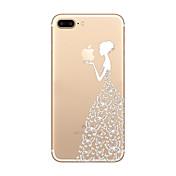 제품 iPhone 8 iPhone 8 Plus iPhone 7 iPhone 6 아이폰5케이스 케이스 커버 울트라 씬 투명 패턴 뒷면 커버 케이스 애플로고 관련 소프트 TPU 용 Apple iPhone 8 Plus iPhone 8 아이폰 7 플러스