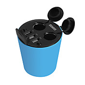 hasmine 자동차 충전기 오 포트 자동차 소켓 어댑터의 USB 충전기