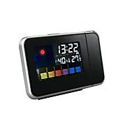 Despertador de proyección de la casa con la exhibición de la temperatura y de la humedad