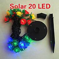 zonne 2m 20-led kleurrijk licht bloemmotief koord lamp voor kerst