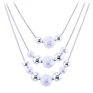 Žene Izjava Ogrlice slojeviti Ogrlice Jewelry Plastika Legura Moda kostim nakit Jewelry Za Party Dnevno