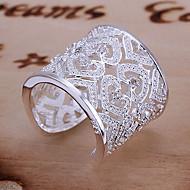 Női Vallomás gyűrűk mandzsetta Ring Egyedi Szerelem Menyasszonyi elegáns luxus ékszer jelmez ékszerek Ezüst Strassz Heart Shape Ékszerek