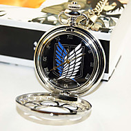 Klok/Horloge geinspireerd door Attack on Titan Eren Jager Anime Cosplay Accessoires Klok/Horloge Zwart / Zilver Legering Mannelijk