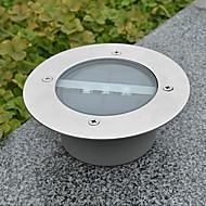 White Light LED Solar Light Round Infälld Deck Dock Pathway Trädgård Ljus