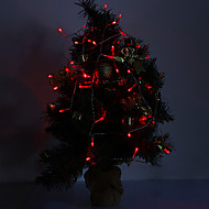 4M 3W 40-LED 210LM Red Light LED Strip Light til Julepynt