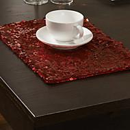 4 Modern Kırmızı Pul Placemats kümesi