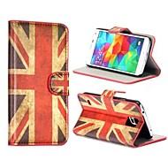 Voor Samsung Galaxy hoesje Portemonnee / Kaarthouder / met standaard / Flip / Patroon hoesje Volledige behuizing hoesje Vlag PU-leer