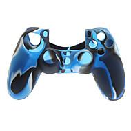 네이비 블루 Protctive 실리콘 케이스와 PS4에 대한 2 PCS 핑크 엄지 스틱 그립