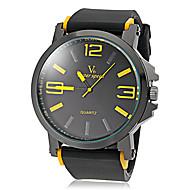 V6 Herren Armbanduhr Quartz Japanischer Quartz Silikon Band Schwarz Weiß Gelb Rot Grün Blau