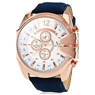 V6 Herren Militäruhr Armbanduhr Quartz PU Band Braun Grün Marinenblau Weiß Schwarz Grün Marineblau