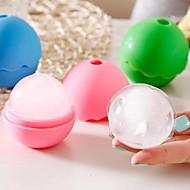 공 모양의 실리콘 아이스 박스 (색상 랜덤)