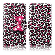 Leopard Grain Leather Full Body Case for Sony Xperia Z2 D6503