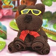fødselsdagsgave bjørn form fiber kreativ håndklæde (tilfældig farve)