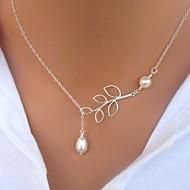 Dame Halskædevedhæng Perlehalskæde Bladformet Perle Imiteret Perle Legering Enkelt design Mode minimalistisk stil kostume smykker Smykker