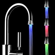 rc-f1101 mini stílusos vízsugarat hőmérséklet érzékelő világító LED fény csaptelep fény (műanyag, króm)