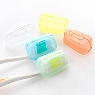 5pcs Podróżne etui/nasadka na szczoteczkę do zębów Wodoodporny Antybakteryjny Przenośny Mini Rozmiar na Przybory toaletoweMateriał