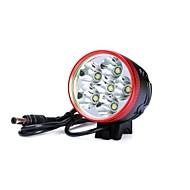 3 Φακοί Κεφαλιού Φώτα Ποδηλάτου LED 7200lm Lumens 3 Τρόπος Cree XM-L T6 Cree XM-L U2 6 x 18650 Μπαταρίες Ανθεκτικό στα Χτυπήματα