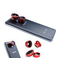 3-I-1 Magnetisk 180 ° Fiskeøje Linse Og Vidvinkel Med 0.67X Makro Linse For Samsung Mobiltelefon
