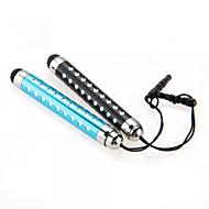 kinston® 2 x visszahúzható kapacitív érintőképernyő toll gyémánt anti-sötétedésig fülhallgató dugó iPhone / iPad / Samsung és más