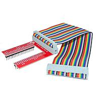 bringebær pai 3 GPIO utvidet DIY kit (40p + GPIO v2 rainbow linje)