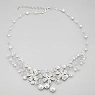 Damskie Vintage Naszyjniki Perlový náhrdelník Perłowy Imitacja pereł Stop Modny Silver Biżuteria Na Codzienny 1set