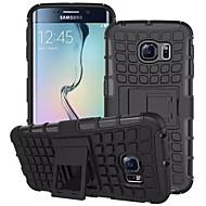 For Samsung Galaxy etui Pung Stødsikker Med stativ Flip Etui Bagcover Etui Armeret PC for Samsung S7 edge S7 S6 edge S6 S5 Mini S5 S4