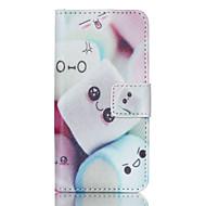 suikerspin pu lederen full body case met screen protector en staan voor ipod touch 5