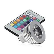 5pcs 2.5W mr16 rgb led svjetlo žarulje svjetlo 16 promjena boje + ir daljinski (ac / dc12v)