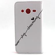 Varten Samsung Galaxy kotelo Lomapkko / Korttikotelo / Tuella / Flip Etui Kokonaan peittävä Etui Sana / lause Tekonahka SamsungCore Prime