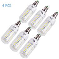 youoklight® 6PCS E14 / E27 12w 1000lm CRI>* smd5730 80 3000K / 6000K (48)는 빛 옥수수 LED 전구 (110-120v / 220-240V)