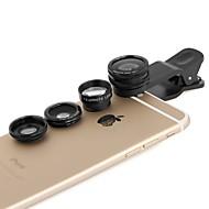 apexel 4 in 1 2x tele, fisheye en macro lens& 0.65x brede lens met een clip voor de iPhone 4/5 / 6s / 6s plus (verschillende kleuren)