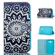 Varten Samsung Galaxy kotelo Korttikotelo / Lomapkko / Tuella / Flip Etui Kokonaan peittävä Etui Mandala Tekonahka SamsungGrand Prime /