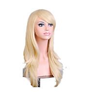Vrouw Synthetische pruiken Zonder kap Krullend Blond Met pony Kostuumpruiken