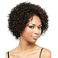 Vrouw Synthetische pruiken Zonder kap Kort Krullend Zwart Afro-Amerikaanse pruik Voor donkere huidskleur Kostuumpruiken