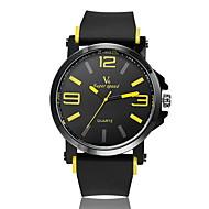 V6 Herren Armbanduhr Quartz Caucho Band Schwarz Weiß Gelb Rot Blau