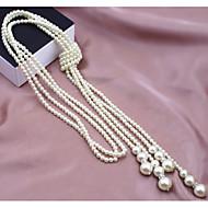 Dames Strengkettingen Parelketting Parel Imitatieparel Legering Modieus Meerlaags Kostuum juwelen Sieraden Voor Bruiloft Feest Dagelijks
