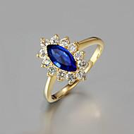 Női Karikagyűrűk jelmez ékszerek Cirkonium Arannyal bevont 18K arany Ékszerek Kompatibilitás Esküvő Parti Napi Hétköznapi