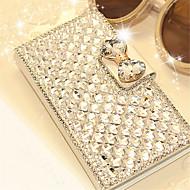 luxe bling kristal diamant lederen tas flip cover voor Samsung Galaxy Note 3 note 4 noot 5 noot 7