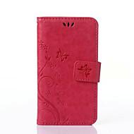 Na Samsung Galaxy Etui Portfel / Etui na karty / Z podpórką / Flip / Wytłaczany wzór Kılıf Futerał Kılıf Motyl Skóra PU SamsungJ5 / J3 /