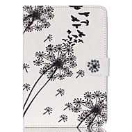 paardebloem folio lederen staan beschermhoes met standaard voor de iPad mini 3/2/1