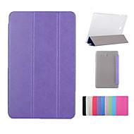 luxe pu leer boek standhouder Smart Cover doorzichtige achterkant van de behuizing voor Samsung Galaxy Tab een 8,0 / tab een 9,7 / tab e