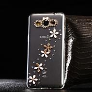 For Samsung Galaxy etui Rhinsten Transparent Etui Bagcover Etui Blomst TPU for Samsung A7(2016) A5(2016) A3(2016) A8 A7 A5 A3